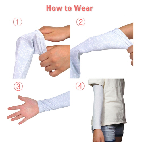 Compression Arm Sleeve Pattern Navy For Men Women UV Sun Protection