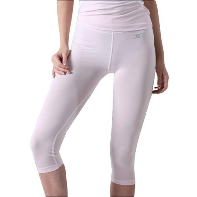 Compression Capri Cropped Pants Women CG Pink