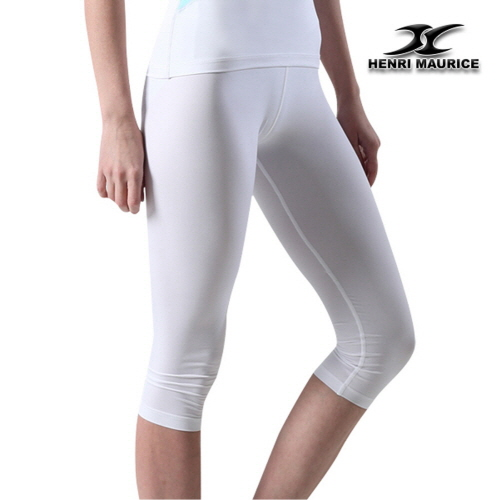Compression Capri Cropped Pants Women CG White