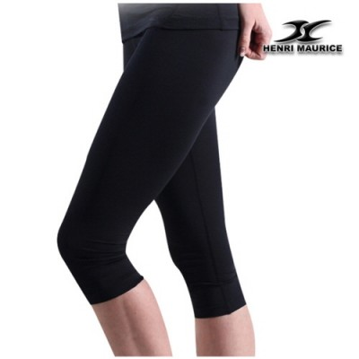 Compression Capri Cropped Pants Women CG Black