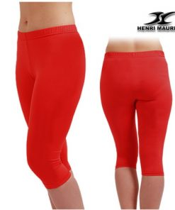 Compression Capri Pants Women EC Red