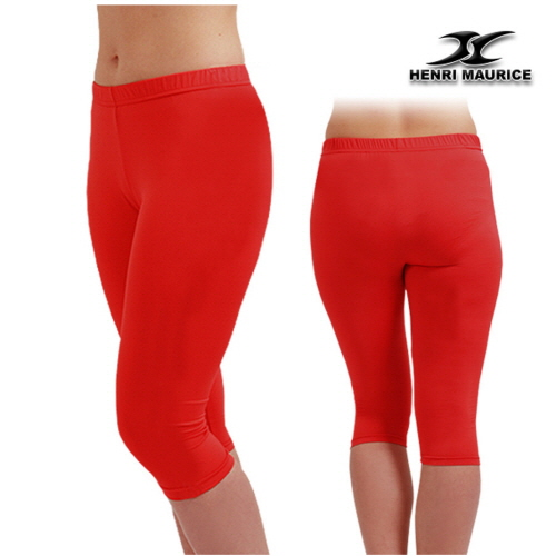 Compression Capri Pants Women EC Red - ourunderwear