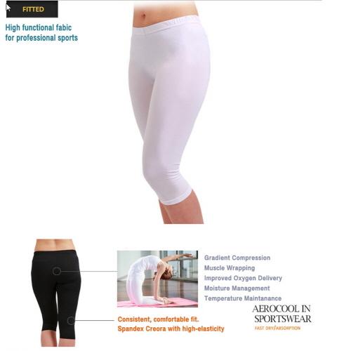 Compression Capri Pants Women EC White