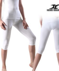 Compression Capri Pants Women EC White