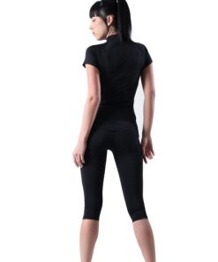 Compression Capri Pants Women EC Black