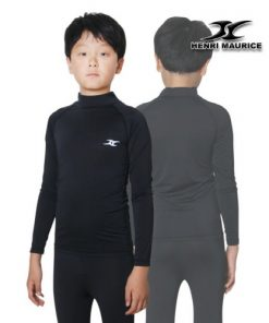 Kids Compression Long Sleeve Shirts Junior Teen Under Base Layer Functional Fabric LK