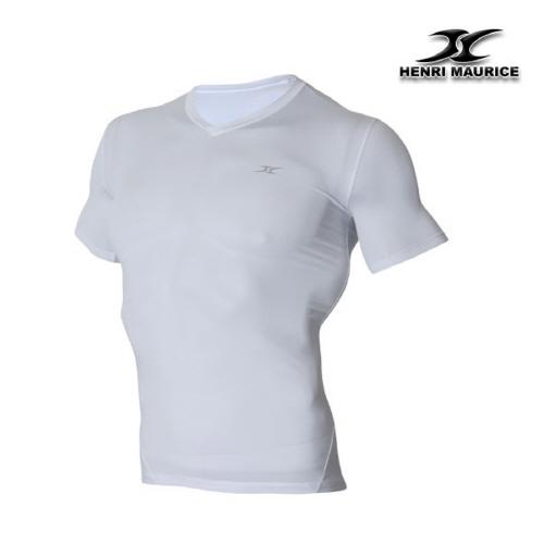Short Sleeve Compression V Neck Shirt SV