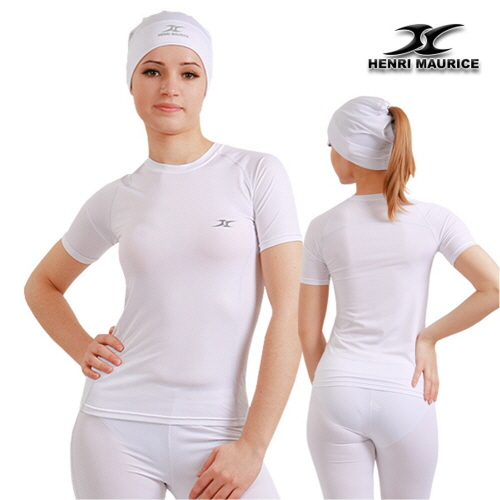 7f845926 Short Sleeve Compression Shirt SG White For Women