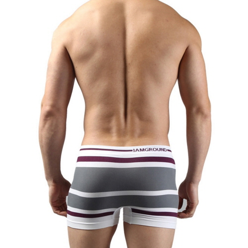 Boxer Briefs Seamless Shorts Grey for Men Underwear Stretchable Drawers Free Size