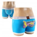 Cotton Boxer Briefs Blue Underwear Boxer Shorts for Men
