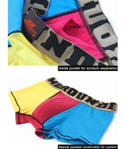 Cotton Boxer Briefs Pop Underwear Trunk Shorts for Men with Inside Functional Pocket