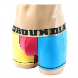 Cotton Boxer Briefs Pop Underwear Trunk Shorts for Men with Inside Functional Pocket