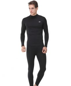 Mock Turtleneck Men Shirts LO Black