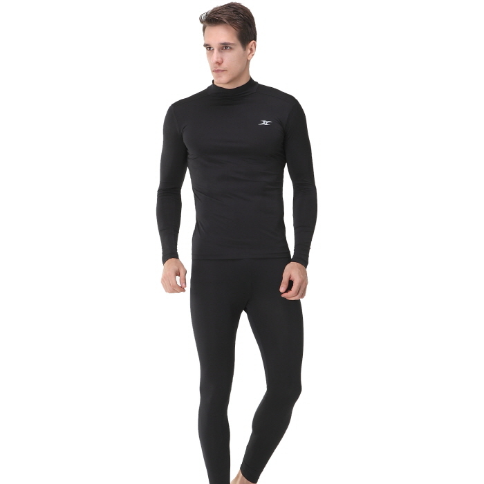 Mock Turtleneck Men Shirts LO Black Tops - ourunderwear