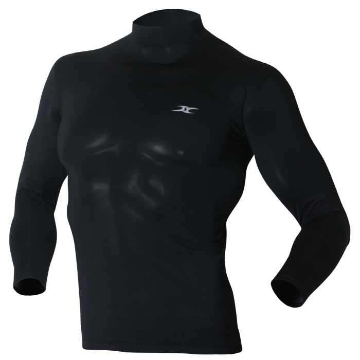 Mock turtleneck men shirts lo black tops ourunderwear for Turtleneck under t shirt