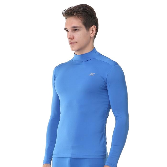Mock turtleneck men shirts lo blue tops ourunderwear for Mens mock turtleneck shirts sale