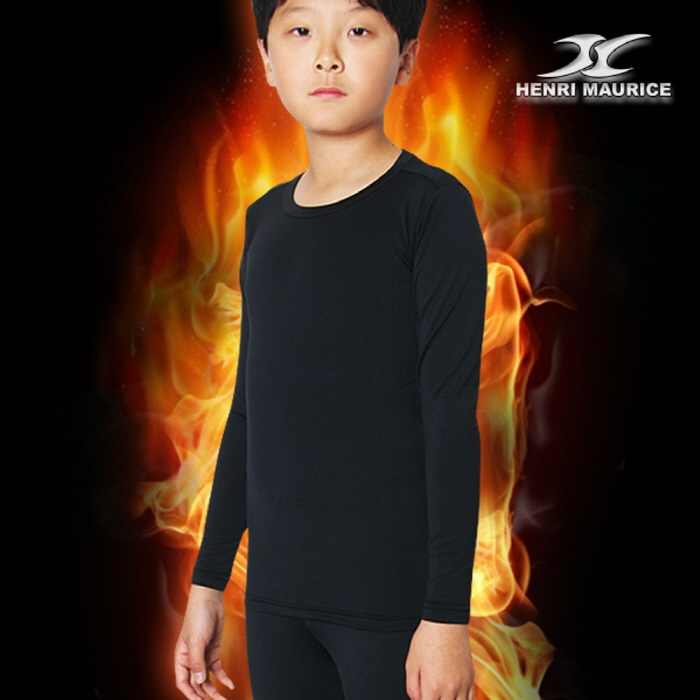 Thermal Underwear Kids Boys Shirts Tops Base Layer Compression Long Sleeve CLK