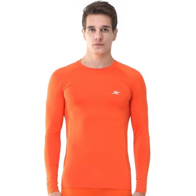 Men-Compression-Long-Shirt-LS-Orange-01