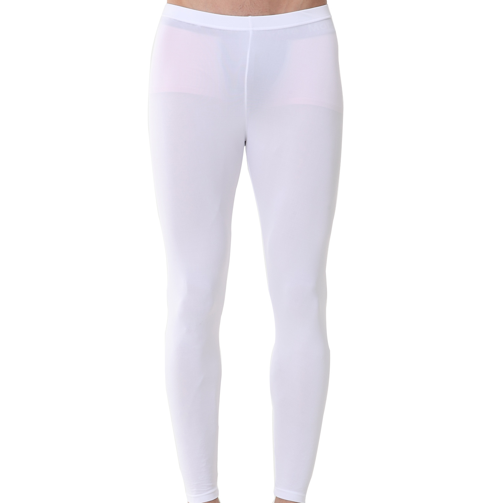 Mens Compression Long Pants EP White - ourunderwear