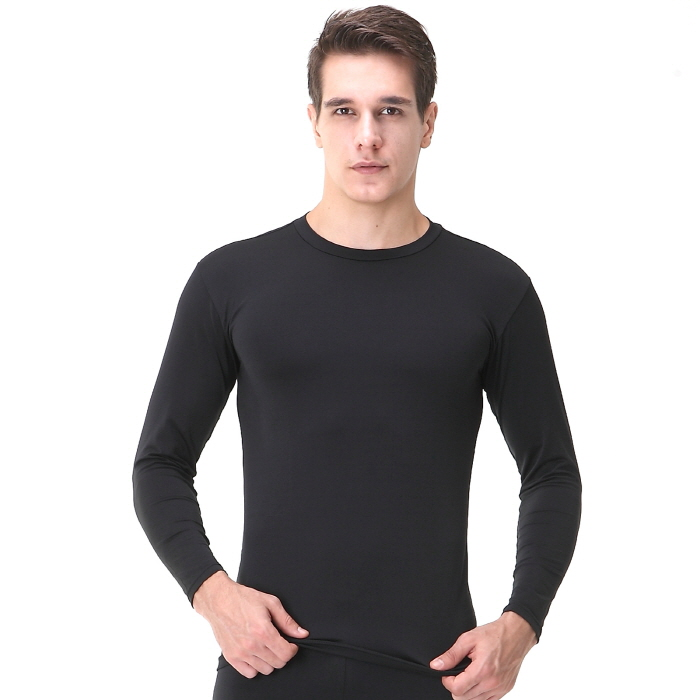Mens compression shirts el black long sleeve ourunderwear for Compression tee shirts for men