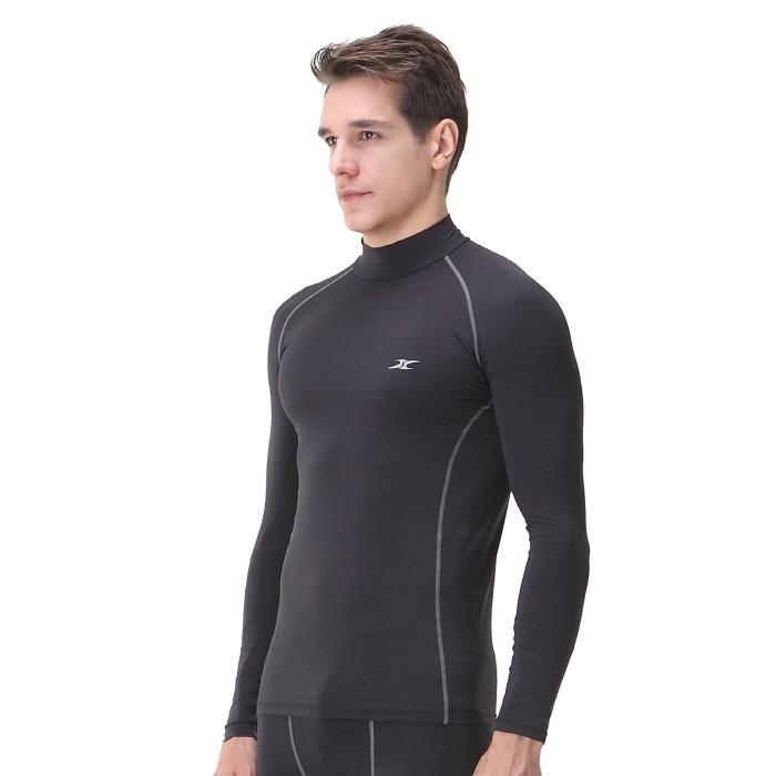 Mock turtleneck men nlm thermal shirts ourunderwear for Compression tee shirts for men
