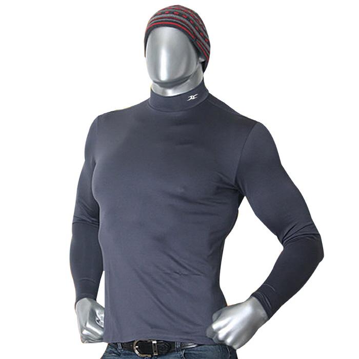 Mock turtleneck men nmm gray thermal shirts ourunderwear for Mens mock turtleneck shirts