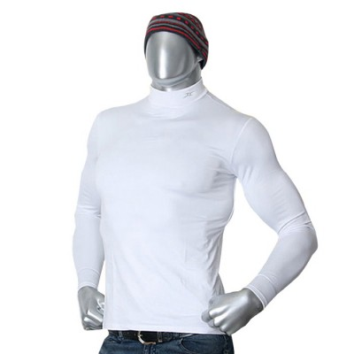 Mens-Thermal-Mock-Neck-Shirts-NMM-White-main-01