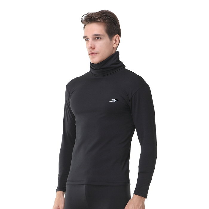 Mens turtleneck shirts hom thermal top ourunderwear for Turtleneck under t shirt