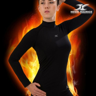 Womens-Thermal-Underwear-Compression-Shirts-NLW-black