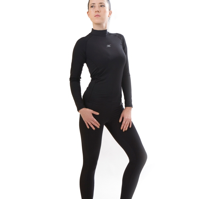 Mock Turtleneck Women Thermal Underwear Shirts NLW - ourunderwear