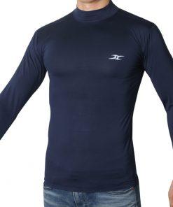 Mock Turtleneck Men Shirts LO Blue
