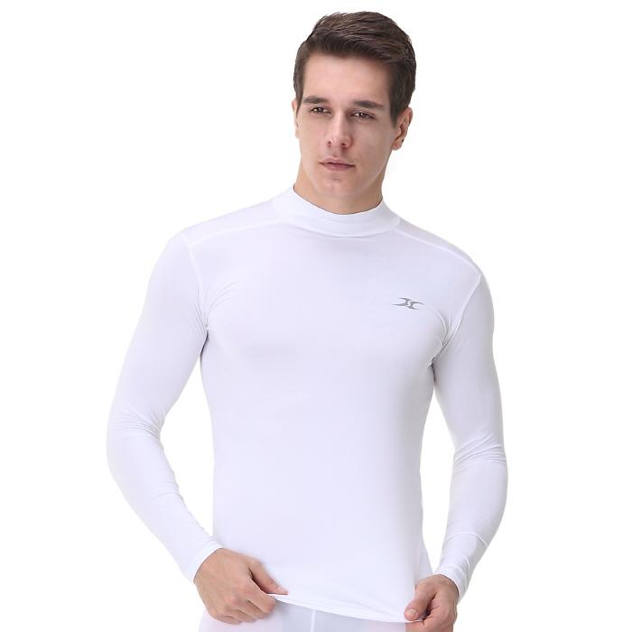 Mock Turtleneck Men Shirts Lo White Tops Ourunderwear