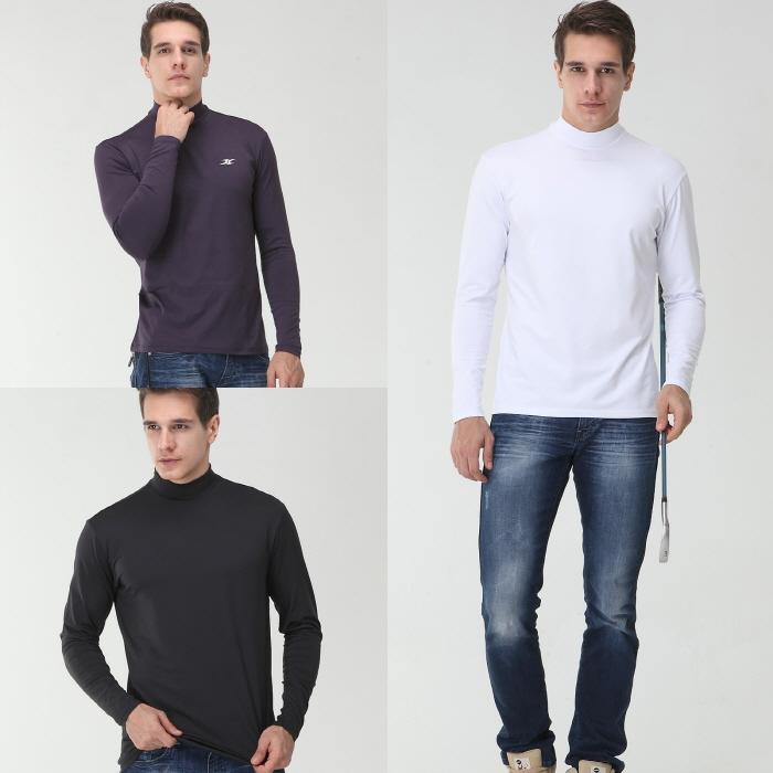 Mock turtleneck men nmm orange thermal shirts ourunderwear for Mens mock turtleneck shirts sale
