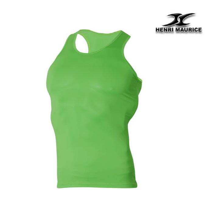 64e4e7244adb7f Mens Tank Top Undershirt KM Green Mango Type – ourunderwear